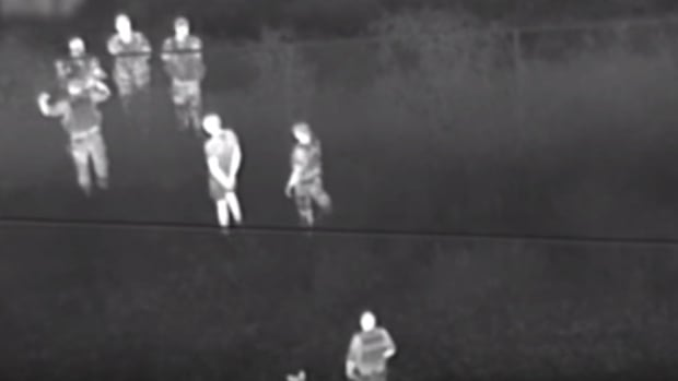 As seen in a YouTube video of the incident, a York police helicopter tracked down suspects after being hit by laser strikes in 2015.