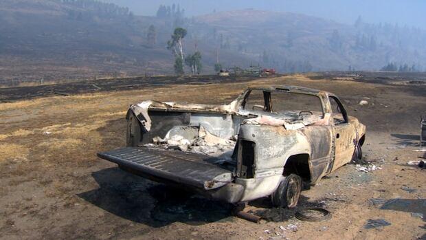 Rock Creek damaged vehicle