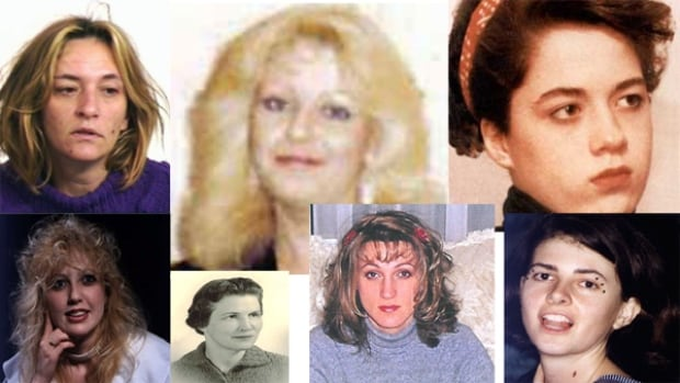 These are a few of the women whose cases are now the focus of the Missed Lives Project. Susan Gourley is on the top left.