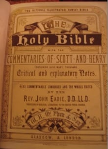 Fenemore family Bible
