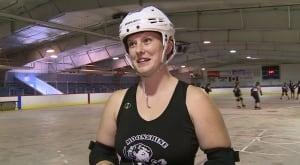 Megan Gaudet in roller derby gear
