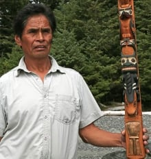 A member of the Tia-o-qui-aht First Nations people in British Columbia