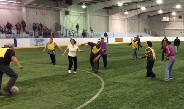 Elders' soccer Iqaluit