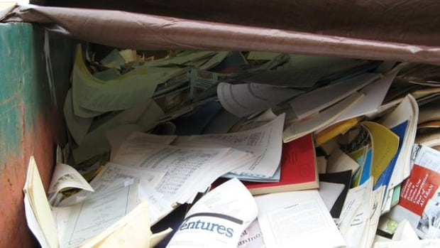 The Professional Institute of the Public Service of Canada says most of the library contents from the Agriculture and Agri-Food Lethbridge Research Centre have either been discarded in a dumpster outside the building or sent to recycling.