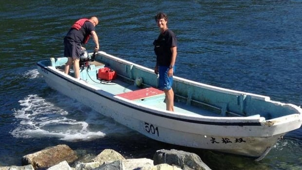 Kou Sasaki's fishing boat made its way to Klemtu, B.C. Sasaki is making the trek from Japan to Canada to take one last ride along a coastline he's never seen.