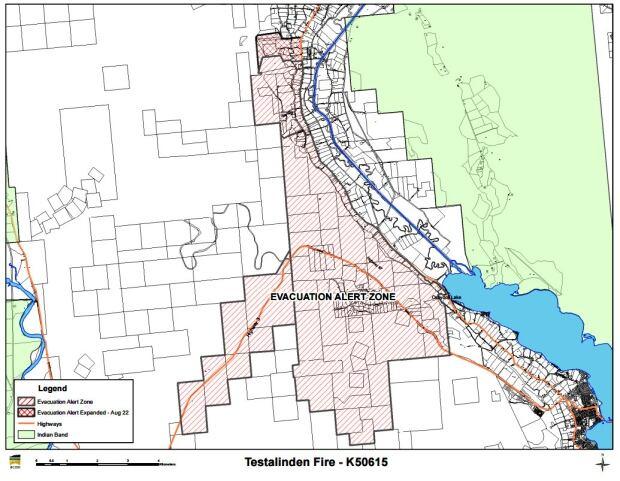 Testalinden Creek fire evacuation alert