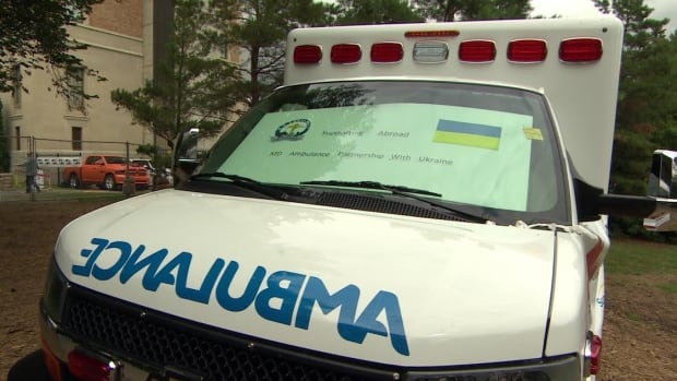 Saskatchewan and Alberta ambulances have been donated to Ukraine.