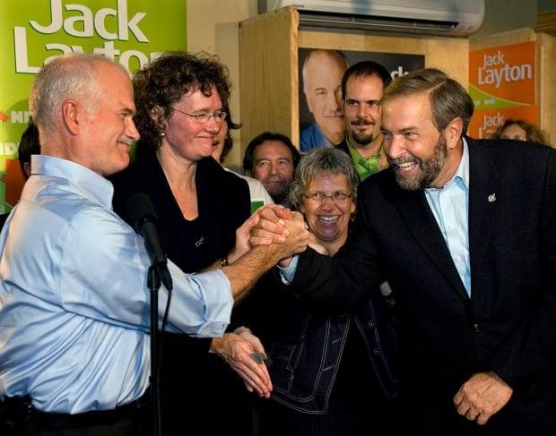 NDP Leader Jack Layton relied on Tom Mulcair to help build Orange Wave