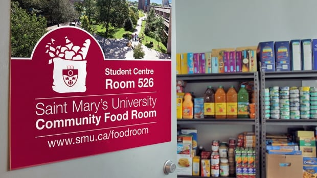 The Community Food Room at Saint Mary's University opened earlier this month. A food drive by the Alumni Office gathered more than 1,500 kilograms of food to stock the shelves.