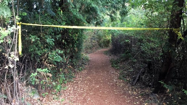 A woman was assaulted on this trail by the Fraserview Golf Course on Sunday morning.