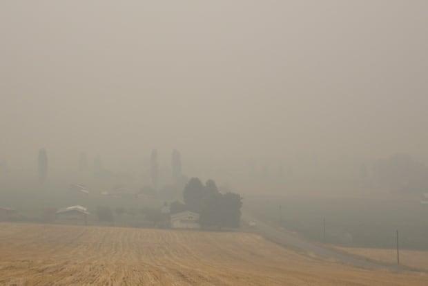 Smoky sky Grand Forks