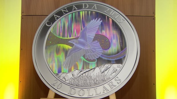 The Mint's new $20 silver collector coin was unveiled in Whitehorse on Monday.