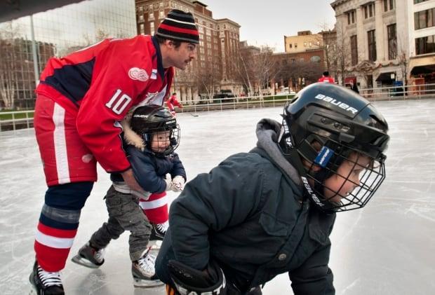 Hockey parents parent dad children kids ice