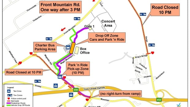 Moncton has released a site and traffic plans for the AC/DC concert that is happening on Sept. 5.