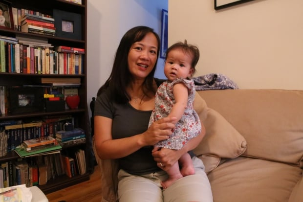 Debbie Wong (with baby Claire), Vancouver