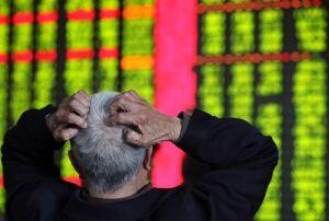 stock market board volatile