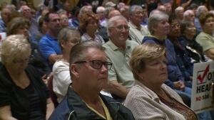 Crowd at health-care forum at Oldcastle's Ciociaro Club