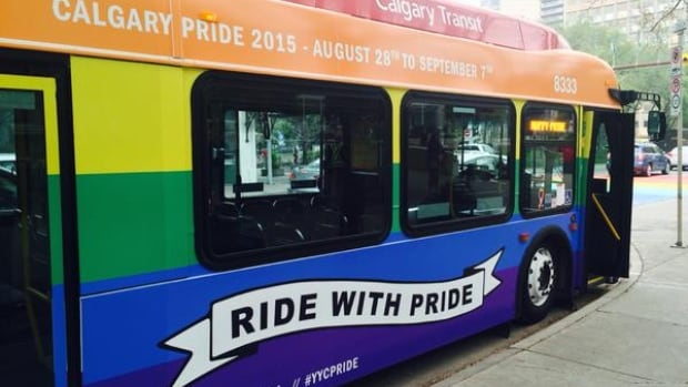 A Calgary Transit bus driver says he is being falsely accused of misconduct after speaking out against the pride bus.