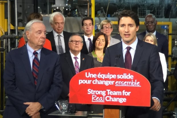 Trudeau and Martin in Montreal