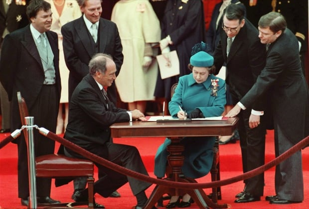 Signing Canada's Constitution