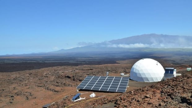 Six people will call this dome, pictured in a photo posted to Hawaii Space Exploration Analog & Simulation's Facebook page, home for one year.