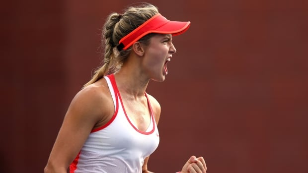 Eugenie Bouchard needed nearly two hours to dispatch her first-round opponent at the Shenzhen Open.