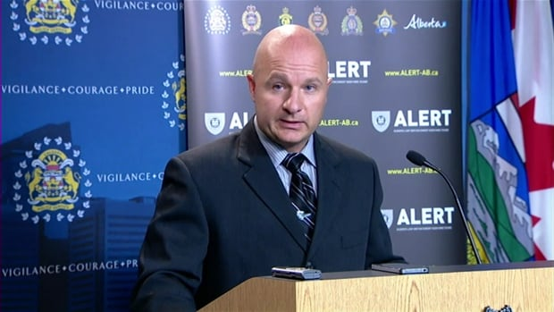 Det. Justin Brookes was the primary investigator of the investigation that prompted charges for eight Albertans.
