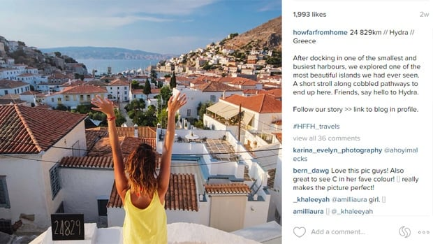All that glitters is not gold on Instagram. The bloggers behind this breathtaking photo revealed in a blog post Monday that they've been scrubbing toilets and picking up cow dung, among other things, to buy food during their time abroad.