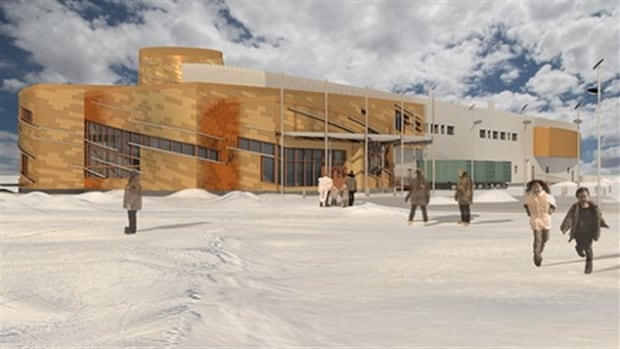 Artist rendering of the design of the Canadian High Arctic Research Station in Cambridge Bay, Nunavut, to be completed in 2017.