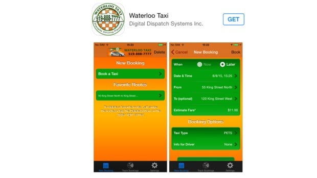 Waterloo Taxi has launched a hailing app in Waterloo Region.