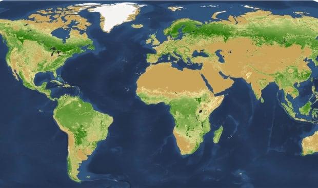 Tree density map