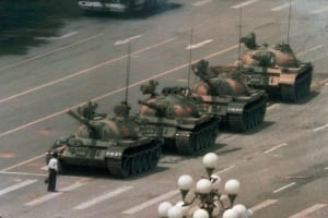 China Tiananmen Then and Now