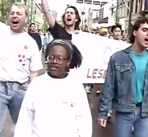 Joey Sayer 1991 Calgary Pride