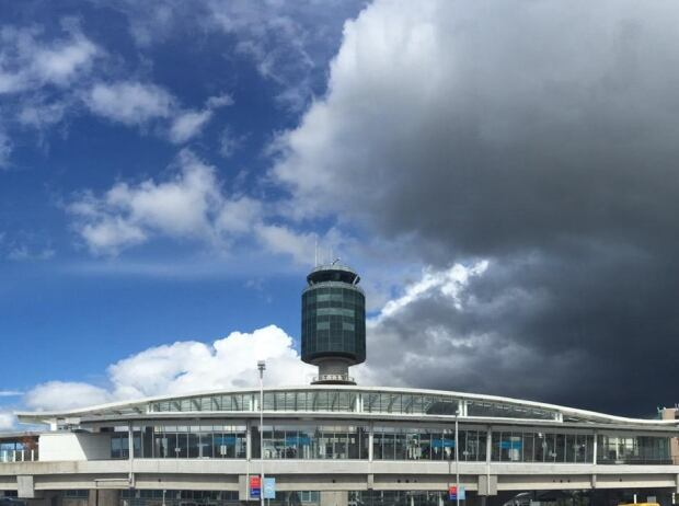 Weather over YVR Vancouver International airport