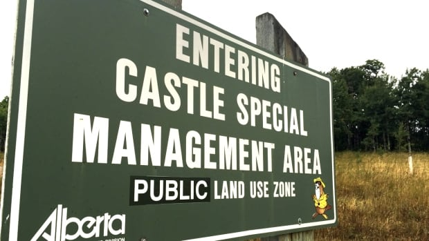 A sign marks the entrance to the Castle, an area that has long been a battleground between development, recreation and protection.