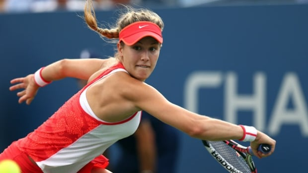 Canada's Eugenie Bouchard reached her first quarter-final in nearly a year at the Shenzhen Open.