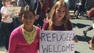 Refugee rally kids