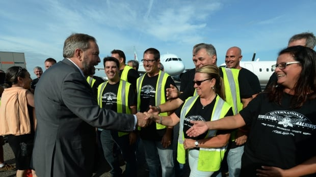 NDP Leader Tom Mulcair announced a plan in Montreal today to boost jobs and innovation in Canada's aerospace sector.