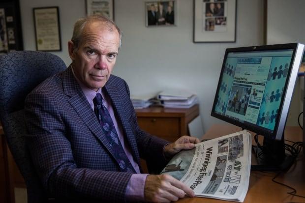 Bob Cox, Publisher, Winnipeg Free Press, Sept 2015