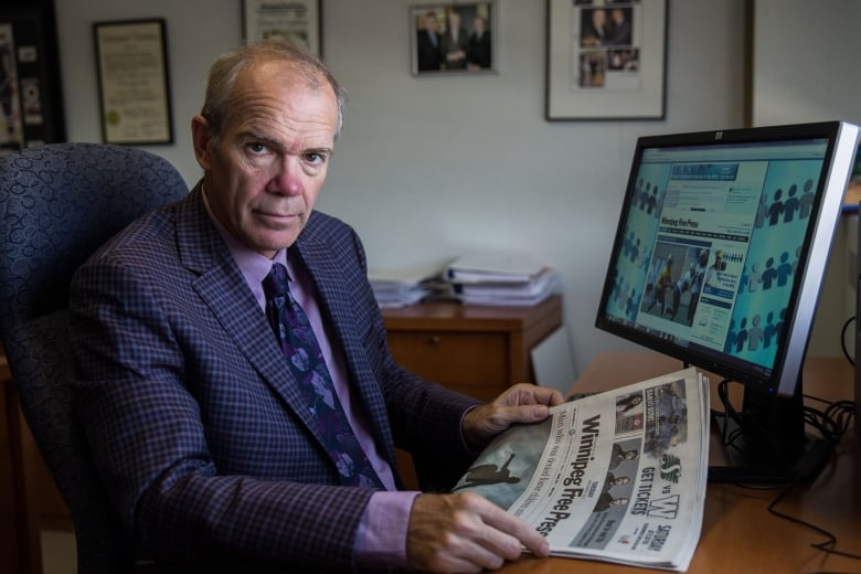 Local news could disappear if Canada doesn't stand up to tech giants, Winnipeg newspaper publisher says