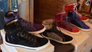 Sealskin sneakers at Dock Marina