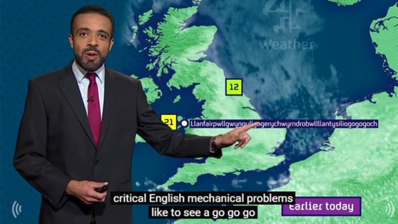 Weatherman pronounces 'Llanfairpwllgwyngyllgogerychwyrndrob