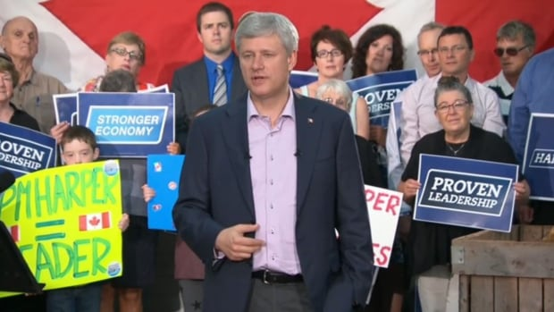 Stephen Harper announced support for Canada's lobster industry during a stop in P.E.I. Thursday.