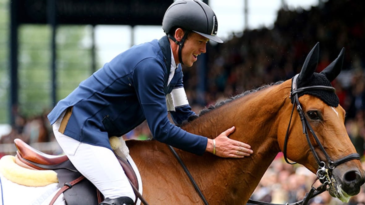 Scott Brash Hello Sanctos Can Make History At Spruce Meadows Spruce Meadows On Cbc
