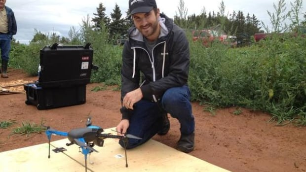Evan MacDonald, owner of Island Aerial Imagery, says flying drone technology can help farmers improve crops and reduce the amount of fertilizer they use.