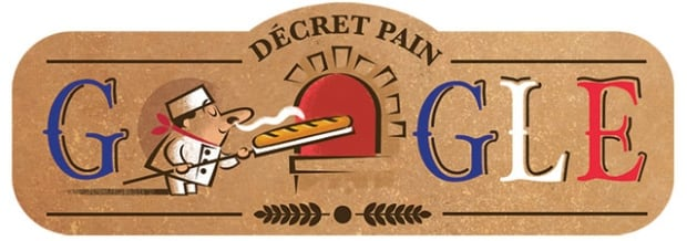 google doodle french traditional bread