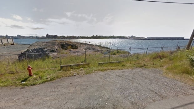 The view from McLoughlin Point in Esquimalt, where a sewage treatment facility for the region was to be built, until it rejected by the municipality in 2014.