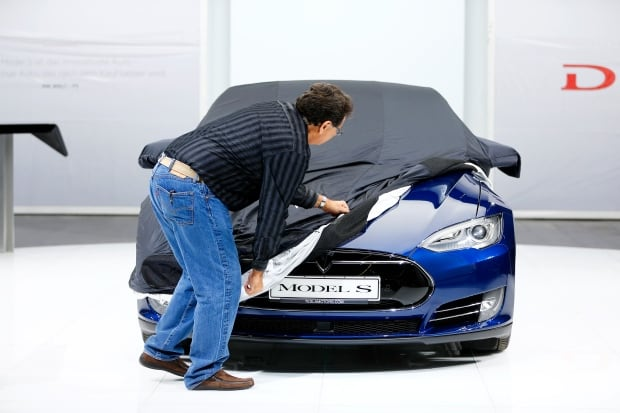 IAA FRANKFURT AUTOSHOW-Tesla Model S Sept 14 2015