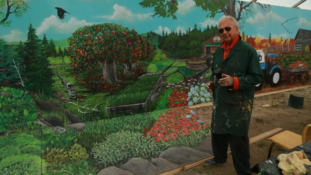 Ron Sajack's newest mural can be found on top of the Fredericton Food Bank, Greener Village.