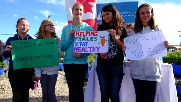 East-Selkirk Middle School students are learning about local foods while raising money and food donations for their community.